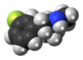 3-Fluoromethamphetamine molecule spacefill.png