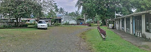 3 Mile, Lae - 3 Mile Agricultural Training Centre buildings on foothills of Atzera Range