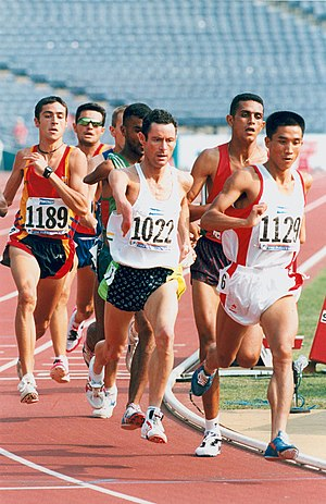 China at the Paralympics - Chinese competitor Yanjian Wu on his way to a silver medal in the T46 1500m event at the 1996 Atlanta Paralympic Games.