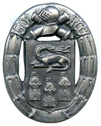 501e Régiment de chars de combat - Insignia type 1.