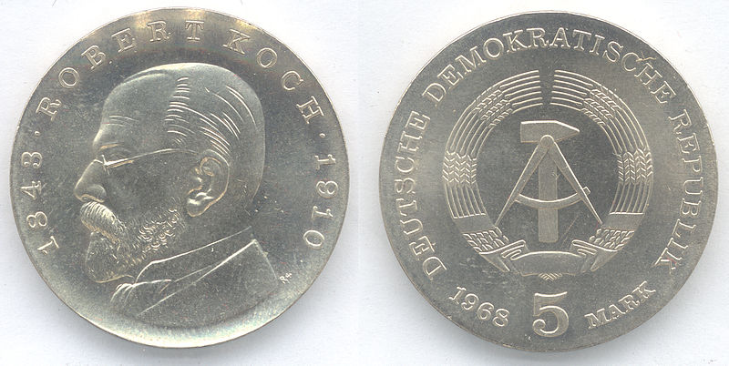 File:5 Mark DDR 1968 - 125. Geburtstag von Robert Koch -.JPG