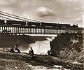 73 William England - Niagara Suspension Bridge and the falls.jpg