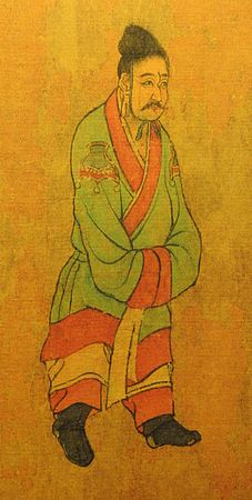 7th century Tang dynasty painting of envoys from the from Baekje.jpg