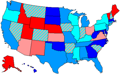 House Seats By Party Holding Plurality In State