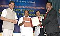 A. K. Antony presenting the DRDO Technology Leadership Award 2012 to Shri S.S. Sundaram for his contributions in realizing product in the areas of electronic warfare and electro optical instrumentations.jpg