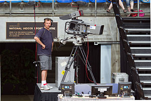 ABC Sport - ABC camera man filming a WNBL game