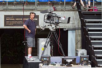 ABC Sport - ABC camera man filming a WNBL game