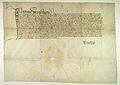 AGAD Wladyslaw Jagiello, krol polski, potwierdza klasztorowi na Lysej Gorze prawo wybierania corocznie balwana soli z zup krolewskich.jpg