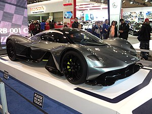 Aston Martin Valkyrie - The design concept of the Valkyrie on display.