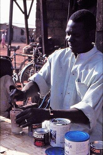 Bartender - Coffeebar tender, Sangha, Mali, 1984