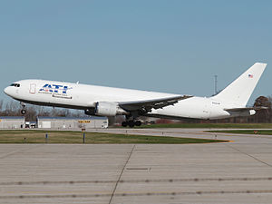 Air Transport International - ATI 767-300 departing it's ILN home base