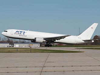 Air Transport International - ATI 767-300 departing its ILN home base