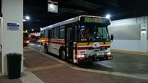Fairfax Connector - A Fairfax Connector Orion 5.505 on the 981 parked at Wiehle-Reston East.  Wiehle–Reston East Station opened on July 26, 2014 and is currently the western terminus for the WMATA Silver Line.  And some Orion V's are still active, but only the 30'