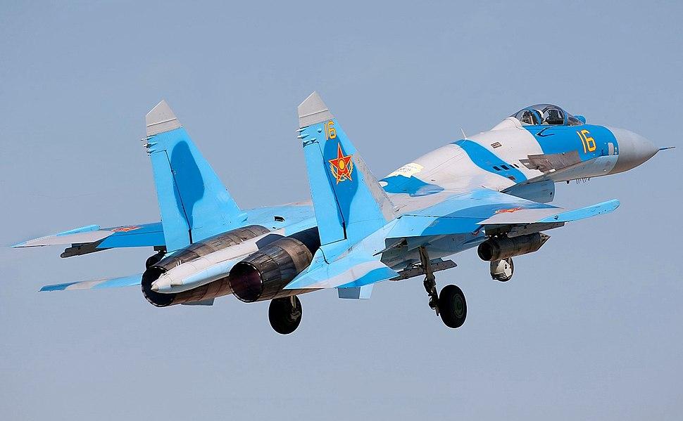 A Kazakh Sukhoi Su-27P(modified)