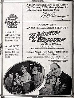 <i>A Motion to Adjourn</i> 1921 film