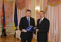 A ceremony has been held to decorate the Presidents of Azerbaijan and Ukraine.jpg