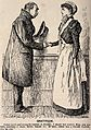 A cured patient thanking a nurse for all her kindness. Wood Wellcome V0011586.jpg