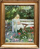 A girl in the garden in summertime, by Anna Ancher, with frame.jpg