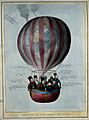 A hot-air balloon with the visage of Daniel O'Connell carryi Wellcome V0050224.jpg