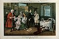 A parody of Hogarth's Marriage a la Mode Wellcome V0050365.jpg