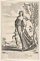 A shepherdess, accompanied by her dog, dancing to the sound of a cornemuse MET DP834196.jpg