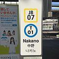 A station sign at Nakano Station Tokyo.jpg