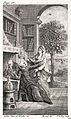 A woman bestows a crown on a monk; next to him is a furnace Wellcome L0026380.jpg