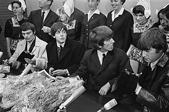 Beatlemania - Holding a press conference in The Netherlands, June 1964