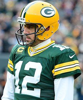 Aaron Rodgers American football quarterback
