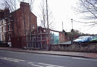 Shrewsbury Abbey railway station - The site of the station in 2005 before restoration