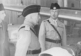 Abdullah I of Jordan - King Abdullah with Glubb Pasha, the day before his assassination, 19 July 1951.