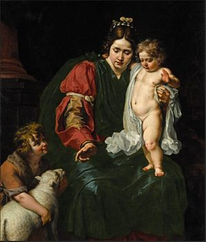 Abraham Janssens - The Virgin and Child with the infant St John the Baptist