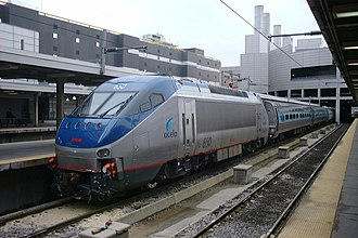 Acela Express - An Acela Regional train at South Station, Boston in 2002