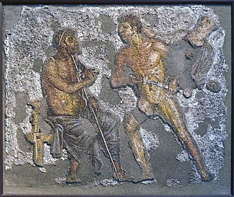 Achilles - Achilles and Agamemnon, from a fresco of Pompeii, 1st century AD