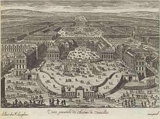Adam Perelle - View of Versailles, c. 1680