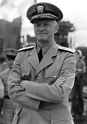 English: Admiral Chester W. Nimitz. Photograph...