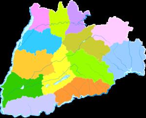Yuncheng - Image: Administrative Division Yuncheng