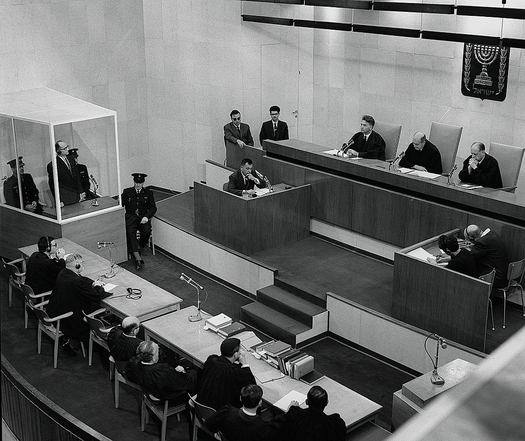Adolf Eichmann is sentenced to death at the conclusion of the Eichmann Trial USHMM 65289.jpg