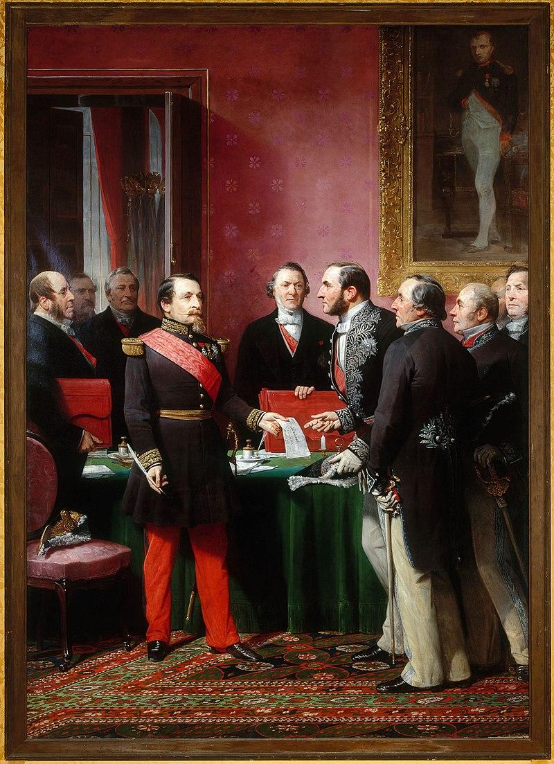Adolphe Yvon - Haussmann présente à l'Empereur le plan d'anexión des Communes.jpg