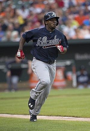 Adonis García - García with the Atlanta Braves