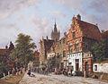 Adrianus Eversen A View In Delft.jpg