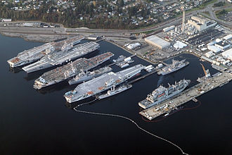Puget Sound Naval Shipyard and Intermediate Maintenance Facility - Image: Aerial Bremerton Shipyard November 2012