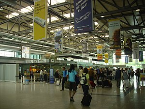 Weeze Airport - Check-in area at Weeze Airport