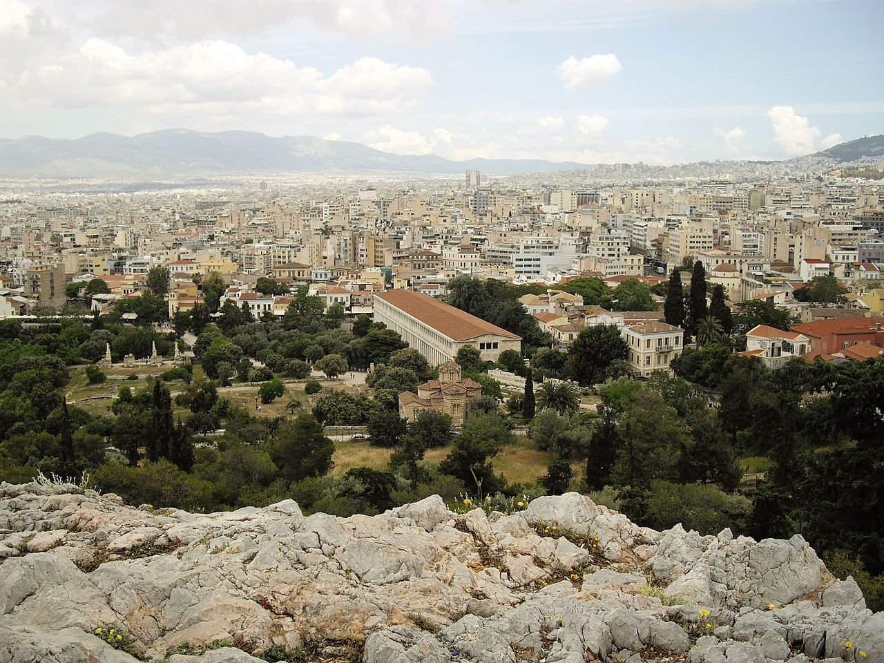 File:Agora of Athens seen from the Areopagus.JPG ...