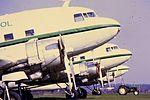 Air Atlantique DC-3 lineup at CVT (15957064679).jpg