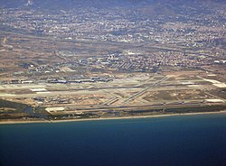 El Prat airport and town