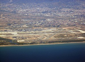 Airport Barcelona seen from air