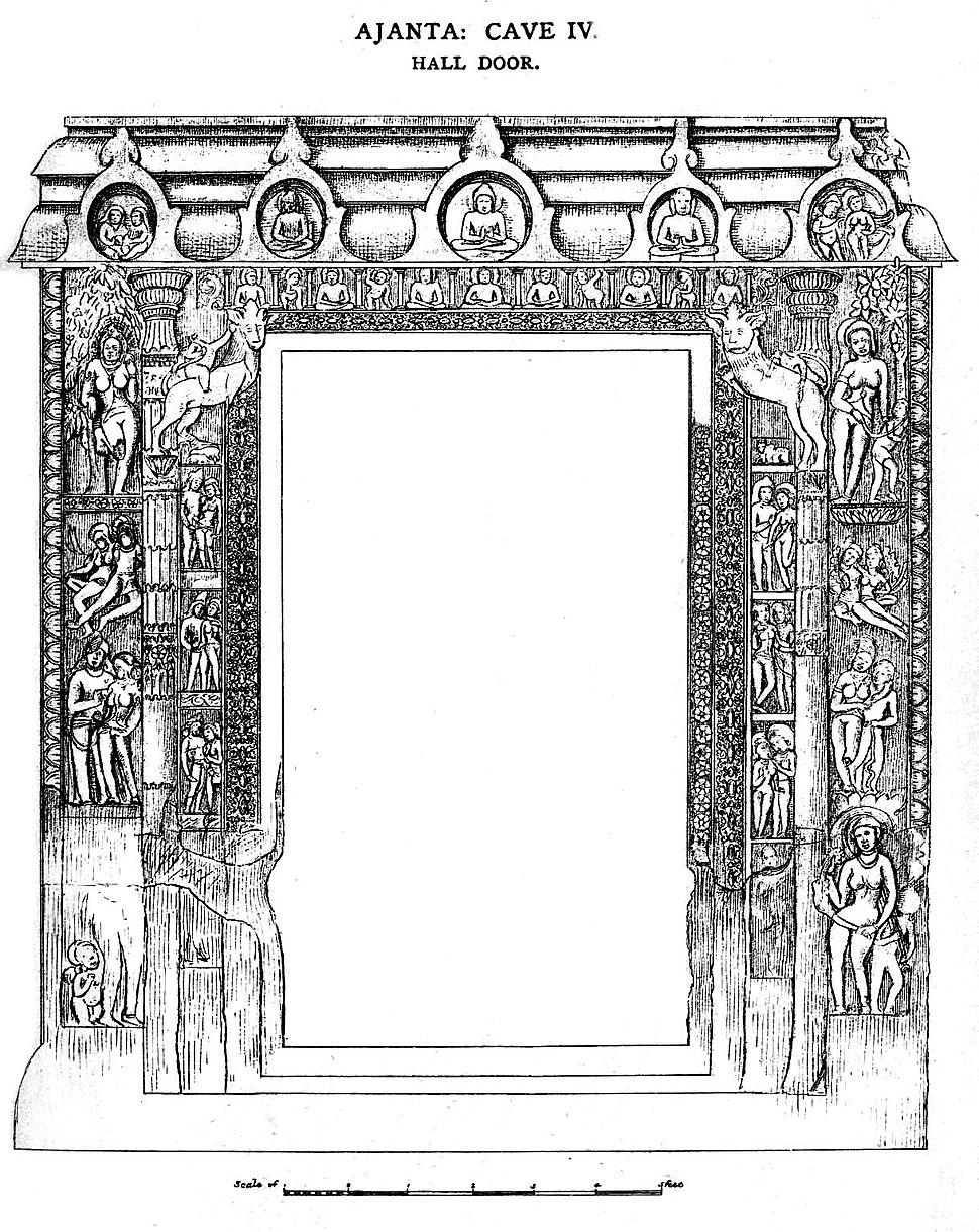 Ajanta Cave 4 Hall door