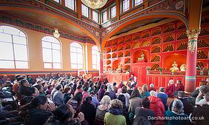 Kagyu Samye Dzong London - Akong Rinpoche opens the new shrine room at Kagyu Samye Dzong London