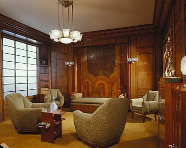 art deco house interior. An Art Deco Study By The Paris Design Firm Of Alavoine  Now In Brooklyn Museum 1928 30 Wikipedia